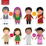 Enfants du monde (Afghanistan, Bangladesh, Pakistan et Sri Illustration Stock
