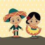 Enfants du monde du Mexique illustration libre de droits