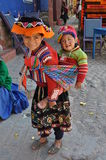 Enfants du Pérou image libre de droits