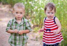 Enfants en bas âge dans le jeu Photos stock