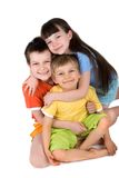 Enfants en bas âge heureux Image stock