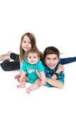 Enfants en bas âge heureux photo stock