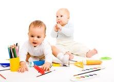 Enfants en bas âge intelligents photographie stock