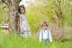 Enfants en nature Photo stock