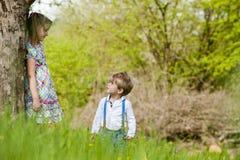 Enfants en nature Image libre de droits