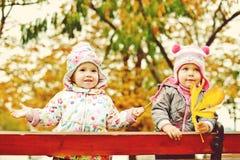 Enfants en parc de chute Image libre de droits