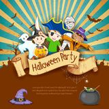 Enfants en partie de Halloween Image libre de droits