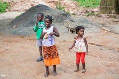 Enfants en Zambie Photo libre de droits