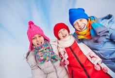 Enfants enthousiastes Photos stock