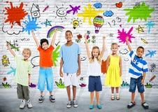 Enfants espiègles Photo stock