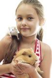 Enfants et animaux familiers Photographie stock