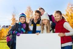 Enfants et bannière Image stock