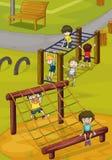 Enfants et bar de singe illustration de vecteur