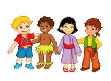 Enfants et diversité Image libre de droits