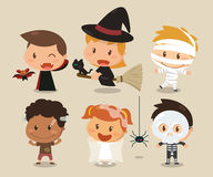 Enfants et Halloween Images libres de droits