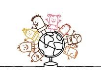 enfants et monde illustration de vecteur