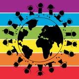 Enfants et planète illustration libre de droits