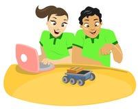 Enfants et technologie 1 Photographie stock libre de droits