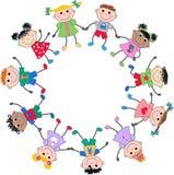 Enfants ethniques mélangés Image libre de droits