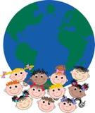 Enfants ethniques mélangés Photo stock