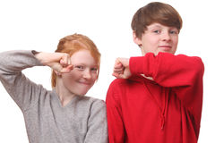 Enfants fâchés Photo libre de droits