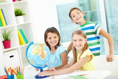 Enfants futés Photographie stock
