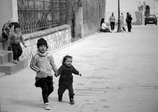 Enfants gitans Photo stock