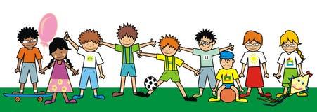 Enfants, groupe illustration de vecteur