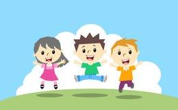 Enfants heureux Photos stock