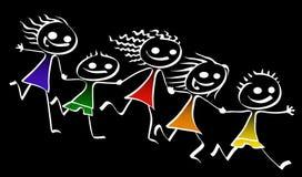 Enfants heureux Image stock