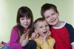 Enfants heureux Photographie stock libre de droits