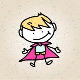 Enfants heureux d'abrégé sur bande dessinée de dessin de main Image libre de droits