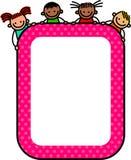 Enfants heureux de signe illustration stock