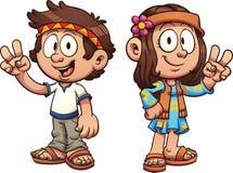 Enfants hippies illustration libre de droits