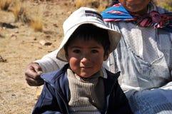 Enfants inconnus sur l'île de la lune Photos stock