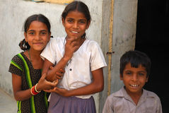 Enfants indiens Photo libre de droits