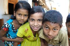 Enfants indiens Photographie stock