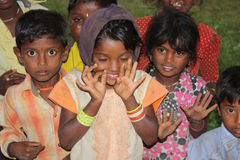 Enfants indiens de village Photos libres de droits