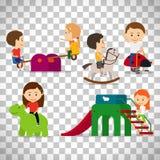Enfants jouant au terrain de jeu Photos libres de droits
