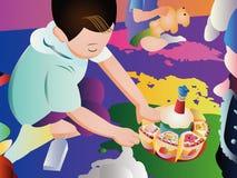 enfants jouant avec des jouets Photographie stock