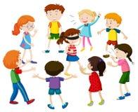 Enfants jouant des abat-jour pliés illustration stock
