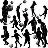 Enfants jouant la bille Images stock