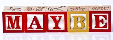 Enfants jouant peut-être des blocs Photos stock