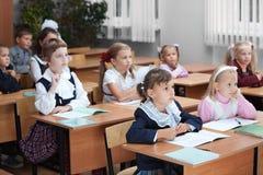 Enfants à l'école Photographie stock