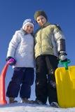 Enfants l'hiver Photographie stock libre de droits