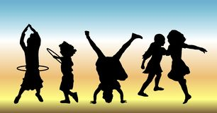 Enfants à la pièce 2 Photos libres de droits