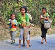Enfants laotiens Images libres de droits