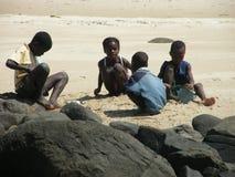 Enfants malgaches indigènes Photographie stock libre de droits