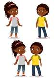 Enfants mignons d'Afro-américain illustration stock
