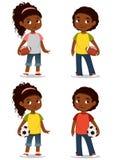 Enfants mignons d'Afro-américain illustration de vecteur